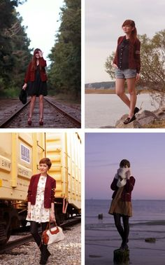 The Clothes Horse: Sunday Remix red cardigan