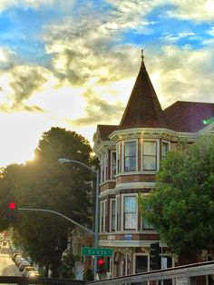 A Victorian House along Scott Street, San Francisco