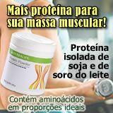Protein Powder - Proteína Isolada de Soja e de Soro do Leite. Pó de proteína sem sabor que ajuda na construção da massa muscular e pode ser adicionado a alimentos e bebidas. 1 colher de sopa (6 g) fornece 5 g de proteínas e 22 kcal. Proteínas de alto valor biológico (aminoácidos em proporções ideais). Sem gorduras, açúcar e carboidratos. Incorpore alimentos com proteína de soja em uma dieta de redução de peso, para evitar a redução da massa muscular. http://vivaplenamente.com/protein.php