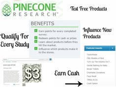 *HOT* Pinecone Research is open again!! Not all will be accepted but it's worth a try. One of the best CASH PAYING survey sites PLUS get FREE products to test from time to time. EXCELLENT SITE!! http://www.freebiequeen13.net/pinecone-research.html