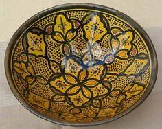 Serving Ceramic Bowl Moroccan Spanish Mediterranean Plates Salad Pasta Bowls  $29.99
