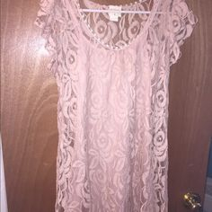 Lace mini dress Light Pink lace mini dress Dresses Mini