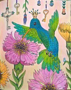 Hummingbird queen :)  Colouring book: Čarovné lahodnosti / Magical Delights, Klara Markova