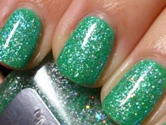 Wintermint: Custom Blended Glitter Nail Polish/lacquer by DrenchedinLacquer - Found on HeartThis.com @HeartThis