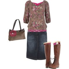 """Fall!"" by foglemans on Polyvore Love it... especially if you put some cowgirl boots with it! ; )"