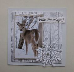 Annemarie's kaarten Winter Christmas Scenes, Cosy Christmas, Simple Christmas Cards, Beautiful Christmas Cards, Homemade Christmas Cards, Beautiful Handmade Cards, Christmas Deer, Christmas Greeting Cards, Holiday Cards