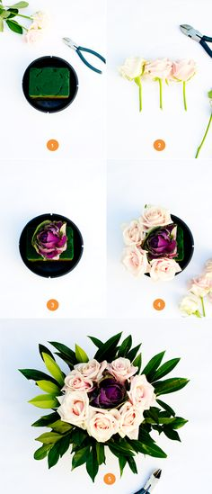 diy easy floral wedding centerpiece from minted's blog, julep