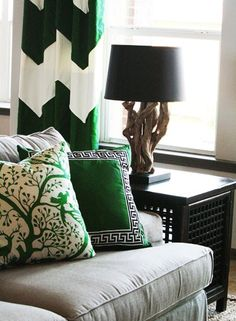 During one of several sleepless nights I had a sudden vision of a living room with emerald green accents...???