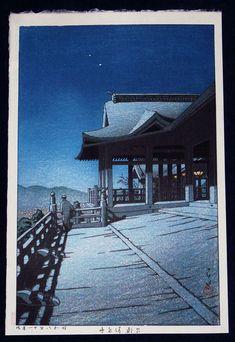Self-Portrait at Kiyomizu Temple, Kyoto - Hasui Kawase - WikiArt.