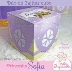 Princesita Sofia Cajitas cubo