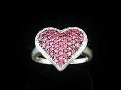 Ruby Heart Ring Sterling Silver - Premier Estate Gallery  - 1