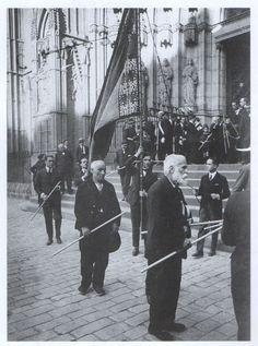 Architect Antoni Gaudi in Barcelona (the man with Beard)