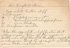Kris Kringle Christmas Cookie Vintage recipe