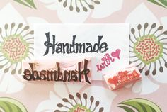 Handmade with love stamp handmade stamp handmade by CutsAndScrapes