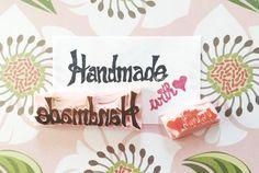 Handmade with love stamp handmade stamp handmade by CutsAndScrapes