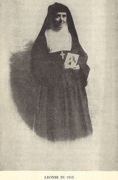 Leonie Martin as Sister Francoise Therese of the Visitation in 1915 holding a picture of her sister, St. Therese