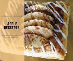 Easy apple desserts Apple Season, Apple Desserts, Spoons, Tea Cups, Baking, Eat, Breakfast, Recipes, Food