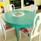 Exactly how I'm painting my $10 thrift store table!