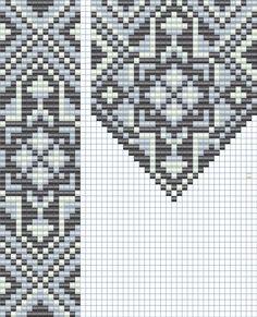 Схема гердана  Loom beading pattern