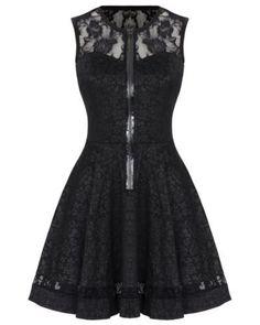 nice Jawbreaker Black Rose Jacquard Lace Gothic Steampunk Vtg Victorian Mini…