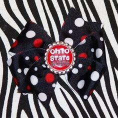 Ohio State Hair Bow by MegansHairCandy on Etsy, $5.00