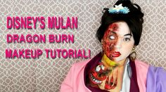 DISNEY'S MULAN DRAGON BURN HALLOWEEN MAKEUP TUTORIAL 2016 FOR SCARE!