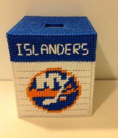 New York Islanders Tissue Box Cover Needle by MaidenLongIsland