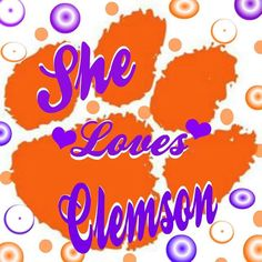 Clemson Clemson Football, Clemson Tigers, Football Season, Tiger Girl, Tiger Love, Orange Is The New Black, Orange And Purple, Cover Pics, Cover Picture