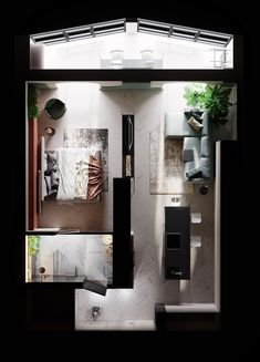 Small Apartment Plans, Small Studio Apartment Design, Apartment Floor Plans, Studio Apartment Decorating, Apartment Layout, Sims House Plans, House Layout Plans, House Layouts, House Floor Plans