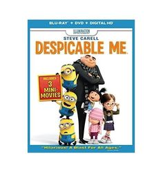 NEW! SEALED! Despicable Me Blu-ray + DVD + Digital HD