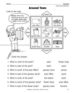 which direction printable worksheet for kids k social studies kindergarten social. Black Bedroom Furniture Sets. Home Design Ideas