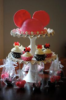Minnie Mouse Cake, cupcakes, cake pops