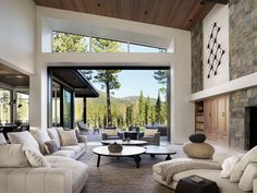 Mountain Modern, Mountain Living, Mountain Homes, Custom Home Builders, Custom Homes, Indoor Outdoor Living, Spanish Style, Logs, Great Rooms