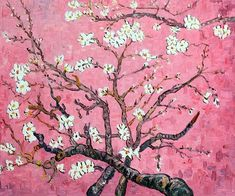 Gogh - Branches of an Almond Tree in Blossom (pink). Hand painted oil painting reproductions available at Van Gogh - Branches of an Almond Tree in Blossom (pink). Hand painted oil painting reproductions available at Van Gogh Art, Art Van, Van Gogh Paintings, Cross Paintings, Art And Illustration, Arte Floral, Motif Floral, Vincent Van Gogh, Van Gogh Pinturas