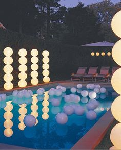 Light Up Balloons in the Pool #summer These look very cool! #DIY with balloons and our #LED lights! These lights would make this project super easy (http://www.maxximastyle.com/MPL-04S-4)