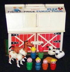 A better view of my fisher price farm house. I remember it well.