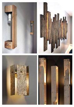 Pallet Wall Decor, Pallet Walls, Diy Pallet Furniture, Design Furniture, Wood Furniture, Palettes Murales, Diy Bedroom Decor, Diy Home Decor, Decoration Palette