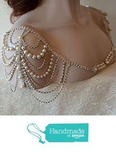 Wedding Dress Shoulder, Wedding Dress Accessory, Bridal Epaulettes, Rhinestone and Pearl Shoulder, Wedding Accessory, Bridal Accessory from ADereli http://www.amazon.com/dp/B01GOZVKHQ/ref=hnd_sw_r_pi_dp_0AYvxb0X307A9 #handmadeatamazon