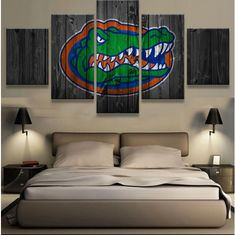 5 Pieces Florida Gators Sports Wall Art Picture Modern Home Decoration Living Room Or Bedroom Canvas Print Painting Wall Picture  Description:  1. Name: 5 Pcs Florida Gators Sports Painting Printed Canvas Wall Art Picture Home Décor  2. Theme: ...
