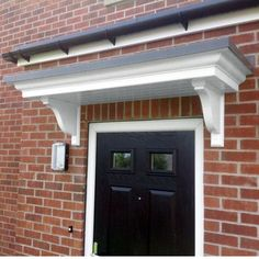 Coniston door canopy - flat door canopy with white body and grey lead effect roof & front door canopy ideas - Google Search | Home | Pinterest | Front ...