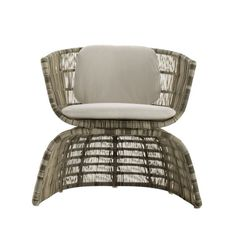 B&B Italia Crinoline Outdoor Sessel mit Polyethylenfasergeflecht 76 cm