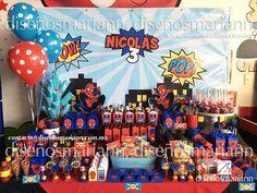 Mesa de dulces Spiderman/Spiderman Candy Bar/Fiesta Spiderman/Spiderman Party