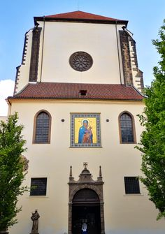 Entrance of the church of Snowy Virgin Mary, Prague, Czechia Sacred Architecture, Virgin Mary, Pilgrimage, Czech Republic, Prague, Hungary, Poland, Entrance, Explore