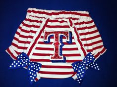 Texas Rangers Bloomers 612mos by christimaher on Etsy, $24.99