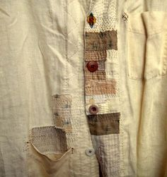 Japanese patch part 2 - darning (traffic) / A Style / Second Street Boro Stitching, Hand Stitching, Sewing Hacks, Sewing Projects, Textile Manipulation, Visible Mending, Make Do And Mend, Textiles, Creation Couture