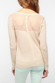 Pins and Needles Swiss Dot Textured Sweater  #UrbanOutfitters