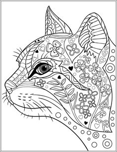 Cat Stress Relieving Designs & Patterns Adult by LiltColoringBooks