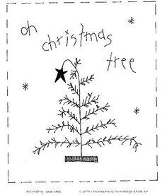 Embroidery idea tree