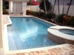 #Spas can be added to any #swimmingpool - big or small. You can customize the bricks, tiles, shape and more! Call Swimmming Pools By Ike Jr. at 954-346-4100 for more details. #letsrelax