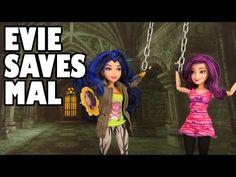 Descendants Evie Saves Mal from Maleficent. DisneyToysFan - YouTube